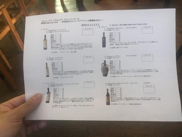 ジョージアワイン会 池袋