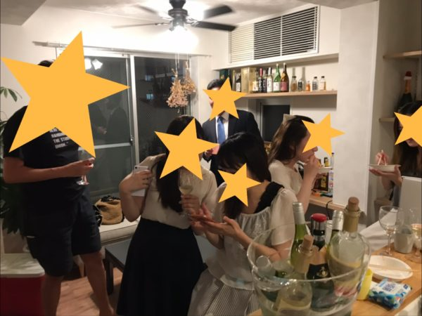 渋谷SOHOで独身ワイン会 (水曜オモロ✖️AND WINE CLUB)