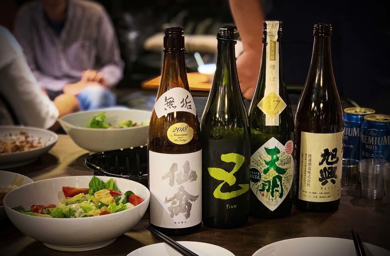 「日比谷花壇さん」で日本酒会(麻布十番)